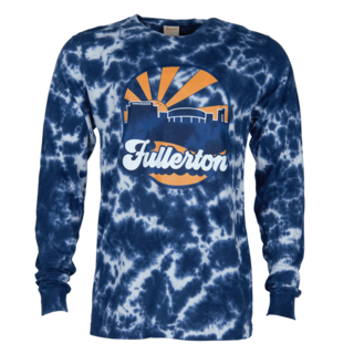Mihaylo Skyline Crinkle Wash Tie Dye Long Sleeve