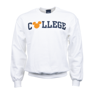CSUF Mickey Ear Muff Crewneck - White