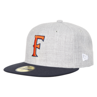 New Era Flat Brim Cap - Gray -Front