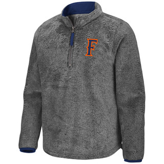 Colosseum Girl's Puffer Fish 1/2 Zip Pullover - Granite - Front