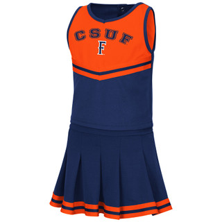 Colosseum Toddler Girls Pinky Cheer Set - Navy - Front