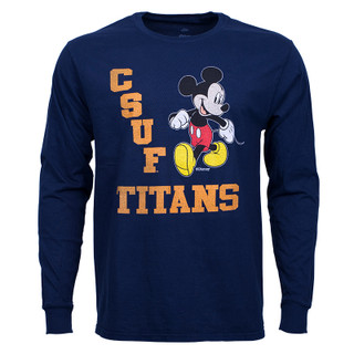 Disney Strutting Mickey Long Sleeve - Navy