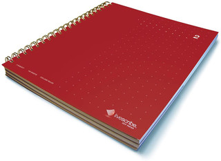Livescribe 3 Subject Wirebound Notebook - Red