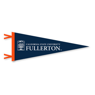 "Cal State Fullerton Emblem Pennant - 9.75"" x 24"""