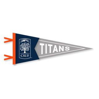 """CSUF Emblem Pennant - 7.5"""" x 18"""""""
