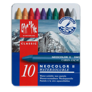 10 Neocolor II Water Soluble Wax Pastels