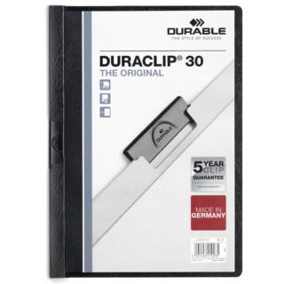 Duraclip Report Cover - Black 30 Sh
