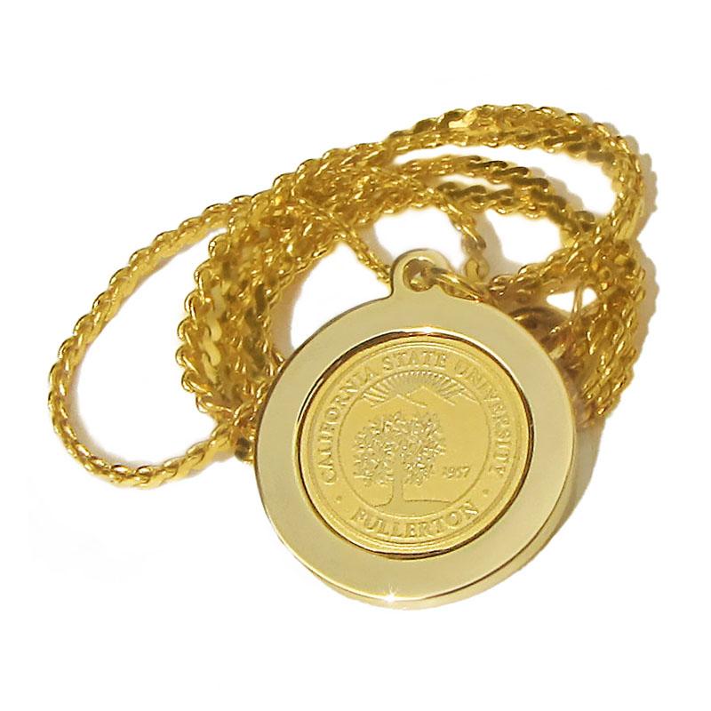University Seal Pendant Necklace - Gold