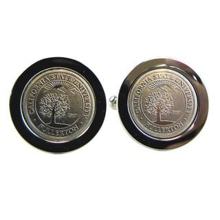 University Seal Silver Cufflinks
