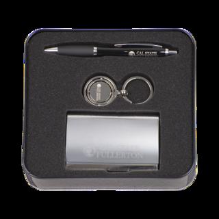 Piedmont Pen, Gimball Key Ring & Aristocrat Business Card Case Gift Set