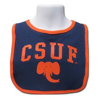 Arched CSUF Cotton Bib
