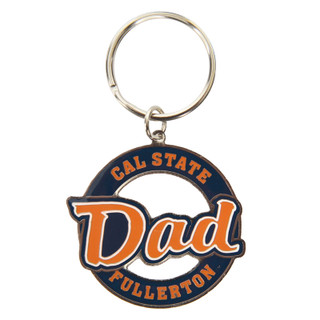 Die-Cut Metal CSUF Keytag - Dad