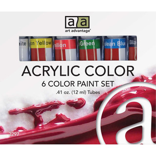 Art Advantage Acrylic Paint Set - 6 Pack
