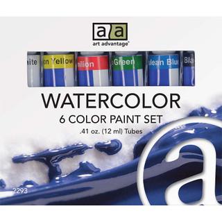 Art Advantage Watercolor Paint Set - 6 Pack