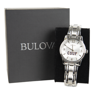 Bulova CSUF Silver Men's Watch