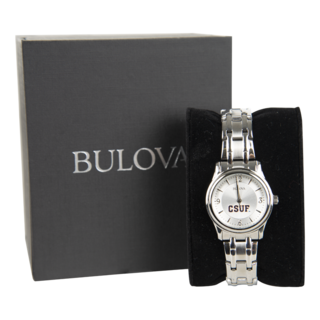 Bulova CSUF Silver Women's Watch