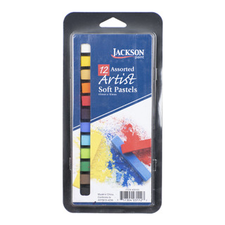 Jackson Artist Soft Pastels - 12 Count Assorted Colors