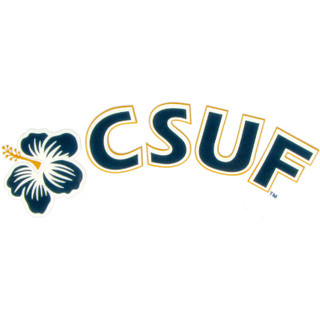 CSUF Hibiscus Arch Decal - Navy & Orange