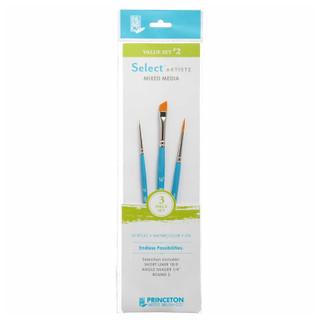 Select Artiste Mixed Media Paint Brush - Value Set #2