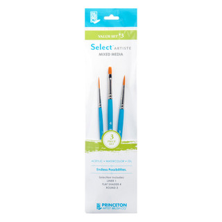 Select Artiste Mixed Media Paint Brush - Value Set #3