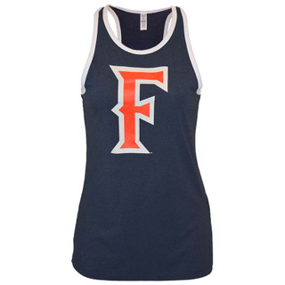 Ladies' Fitted 'F' Tank - Navy - L