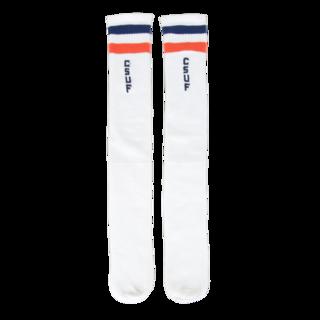 Retro Tube Socks - White