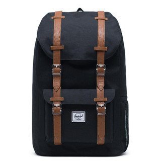 Little America Black/Tan Synthetic Leather Backpack