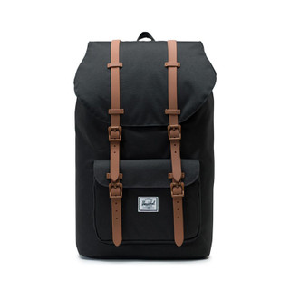 Little America Black and Suede Brown Backpack