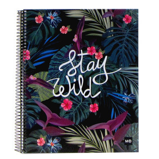 Stay Wild Notebook - 4 Subject