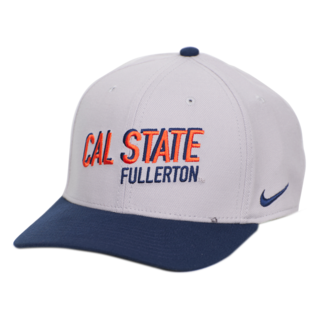 Nike Curved Bill Swoosh Flex Cap Pewter - Front