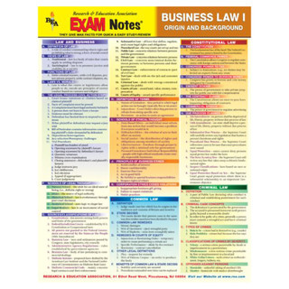 Barcharts Business Law I Origin and Background
