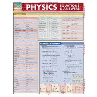 Barcharts Physics Equations & Answers