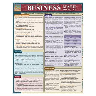 Barcharts Business Math Formulas