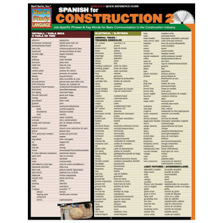 Barcharts Spanish for Construction 2