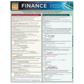 QuickStudy Finance Equations and Answers