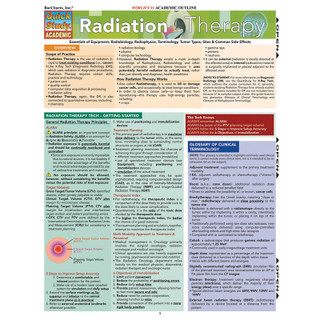 Barcharts Radiation Therapy