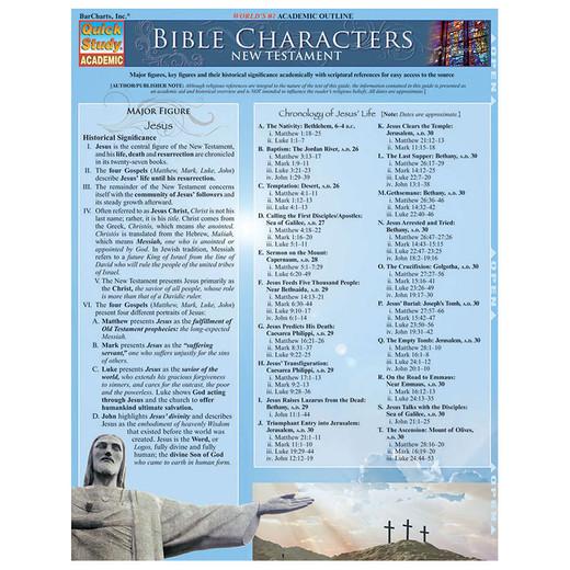 Barcharts Bible Characters New Testament