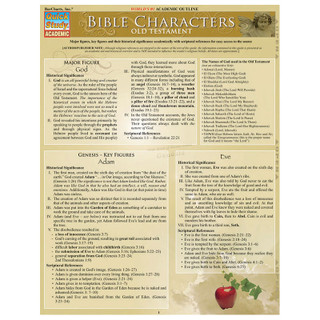 Barcharts Bible Characters: Old Testament