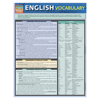 Barcharts English Vocabulary