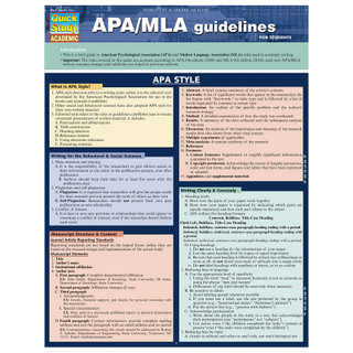 Barcharts APA/MLA Guidelines