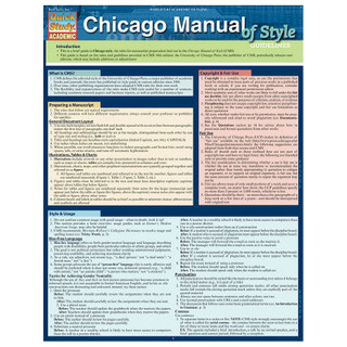 Barcharts Chicago Manual Of Style Guidelines