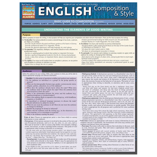 Barcharts English Composition & Style