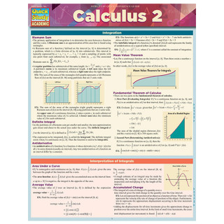 Barcharts Calculus 2