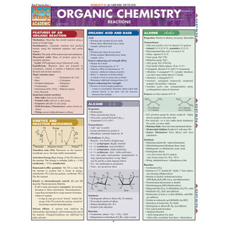 Barcharts Organic Chemistry Reactions