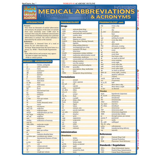 Barcharts Medical Abbreviations and Acronyms