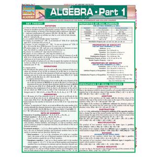 Barchart Algebra - Part 1