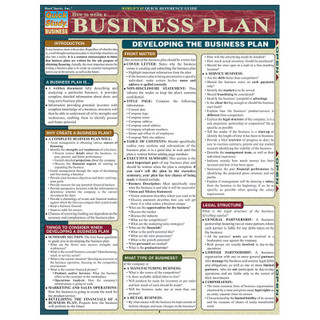 Barcharts How to write a Business Plan