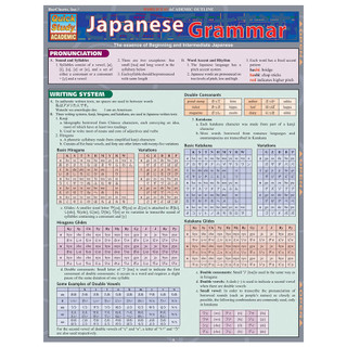 Barcharts Japanese Grammar
