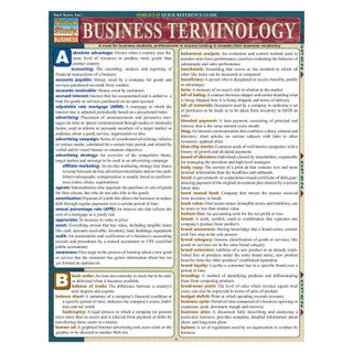 Barcharts Business Terminology